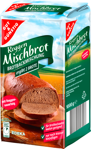 gut und guenstig roggen mischbrot rye mixed bread bread mix european grocery