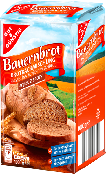 gut und guenstig bauernbrot farmers bread bread mix european grocery